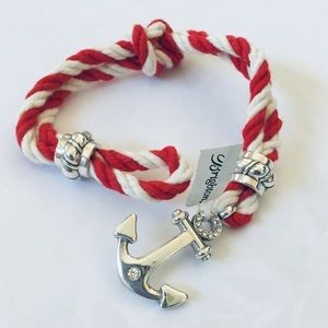 NEW Brighton Coastal Twist Rope Bracelet Red White
